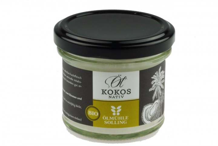 Kokosnussöl nativ (Virgin Coconut Oil, VCO) Bio 100 ml